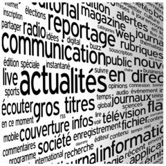 "Nuage de Tags ""ACTUALITES"" (informations blog en direct médias)"