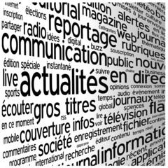 """Nuage de Tags """"ACTUALITES"""" (informations blog en direct médias)"""