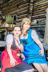 Young austrian Woman wearing Dirndl