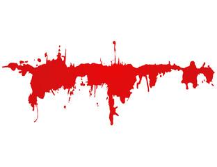 RED splattered line
