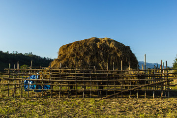 haystack in countryside