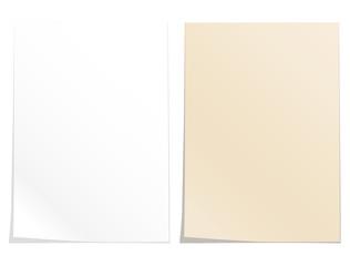 2x blanko Papier (A4 proportional)