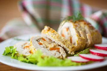 chicken roll meat