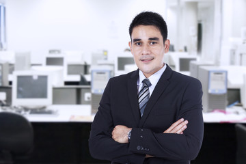 Confident businessman at office