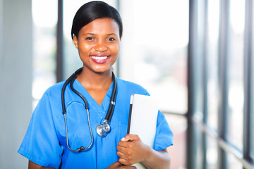 young african medical intern doctor