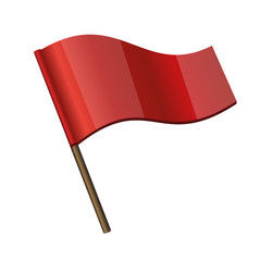 Red Curl Flag Icon