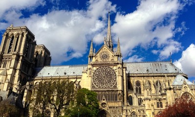 Notre Dame Paris side view