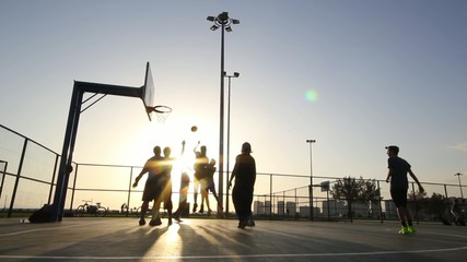 Playing Basketball ,In The Sunset,Behind The Wire Mash