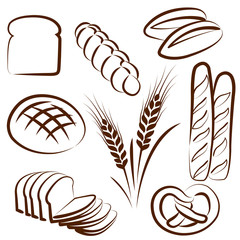 bread set vectors