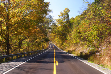 Fall Highway Scenic
