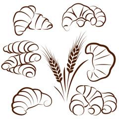 croissant set vectors