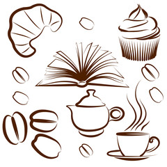 coffee set vectors
