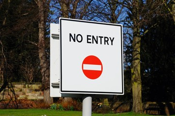 No Entry sign, England © Arena Photo UK
