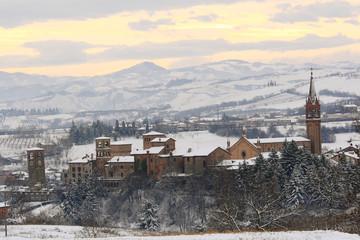 castelvetro di modena paesaggio invernale