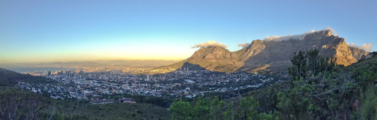 Panorama of Cape Town and Table Mountain, South Africa