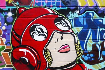 Sci-Fi Woman graffiti