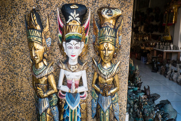 Assortment of various statues, Bali, Ubud, Indonesia