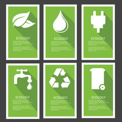 Ecology banner,Green version,vector