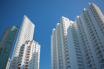 Tall apartment buildings in Bocagrande, Cartagena