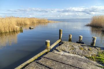 old  landing stage at Achterwasser in Usedom
