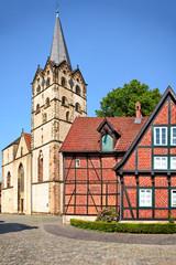 Münsterkirche und Kantorhaus in Herford, Deutschland