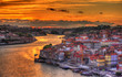 Dramatic sunset over Porto - Portugal - 64284160