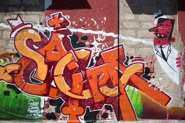 Examples of vintage graffiti in Cartagena