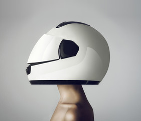 girl in a helmet astronaut