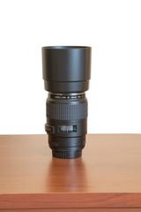 DSLR Photo Lens on Table