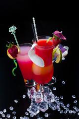 Fresh strawberry cocktails