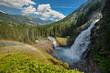 canvas print picture - Krimmler Wasserfall