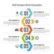 Half Hexagon Block Infographic