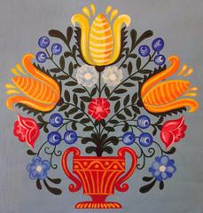 Bauernmalerei, Blumenstrauß