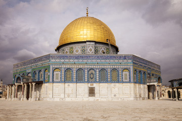 Dome Of The Rock With Clouds