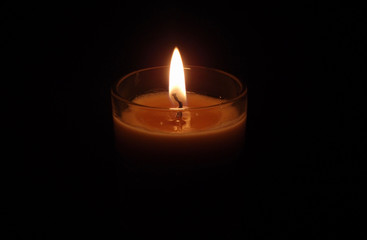 Candle on fire