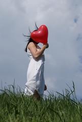 Liebe, verliebt, Mädchen, jung, Teenager, Herz,