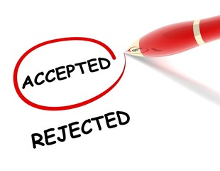 accepted rejected