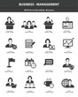 Business management icons,Black version,vector