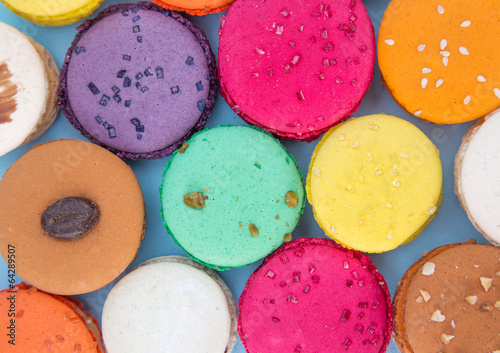 Colorful french macaroons - 64289507