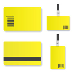 Blank yellow  id card illustration