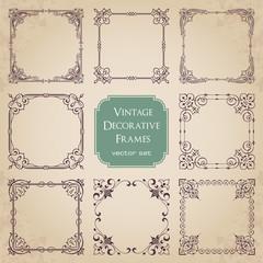 Vintage decorative frames - set 3