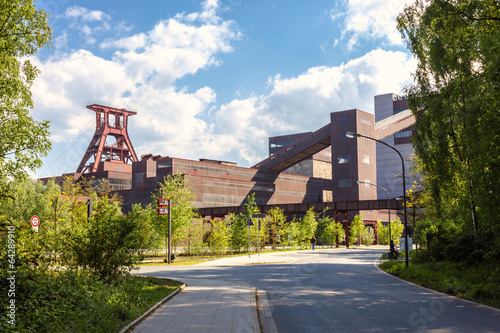 Leinwanddruck Bild Gelände der Zeche Zollverein Essen