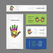 Business cards design with hand, massage reflexology