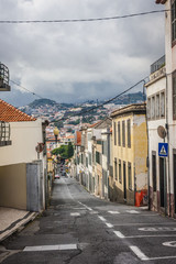 town center of Funchal, Madeira island, Portugal.