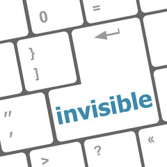 computer keyboard with word invisible
