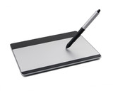 Fototapety Graphic tablet with pen drawing