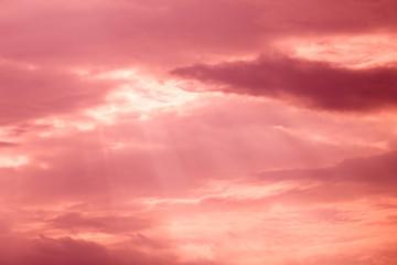 Pink color cloudscape