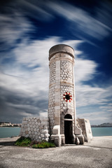 Coastal tower in the harbor