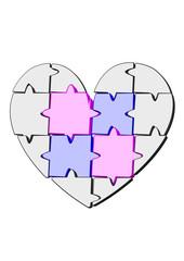 puzle kalp