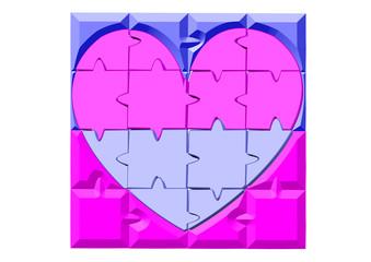cinsiyet işaaretli kalp
